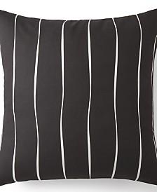 Toile Back In Black Euro Sham - Black & White Stripe