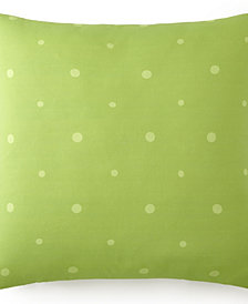 Poppy Plaid Euro Sham Green Polka Dot - Each