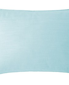 Cambric Aqua Pillow Sham-King