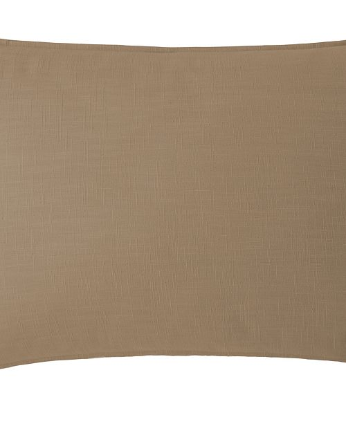 Colcha Linens Cambric Walnut Pillow Sham-King