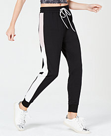 Material Girl Juniors' Colorblocked Jogger Pants, Created for Macy's