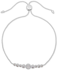 Lauren Ralph Lauren Silver-Tone Crystal Slider Bracelet