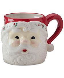 Pfaltzgraff Winterberry Figural Santa Mug