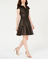 4e085f5a42 Julia Jordan Mesh Jacquard Fit   Flare Dress