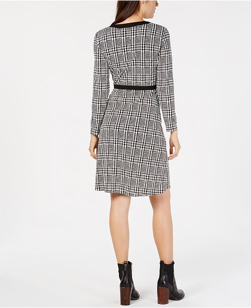 df78b02b043 Tommy Hilfiger Houndstooth Wrap Dress, Created for Macy's & Reviews ...