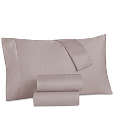 CLOSEOUT! Grace Home Cotton Reversible 500 Thread Count 4-Pc. Full Sheet Set