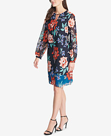 Vince Camuto Floral-Print Shift Dress