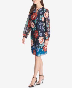 Vince Camuto Floral-Print Shift Dress 6874039