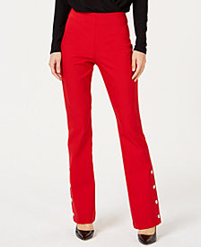 I.N.C. Curvy Embellished Bootcut Pants, Created for Macy's
