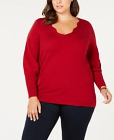 Love Scarlett Plus Size Tie-Back Sweater