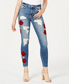 GUESS 1981 Velvet-Rose Ripped Skinny Jeans