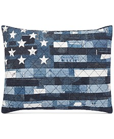 "CLOSEOUT! Lauren Ralph Lauren Kyle Flag 15"" x 20"" Decorative Pillow"