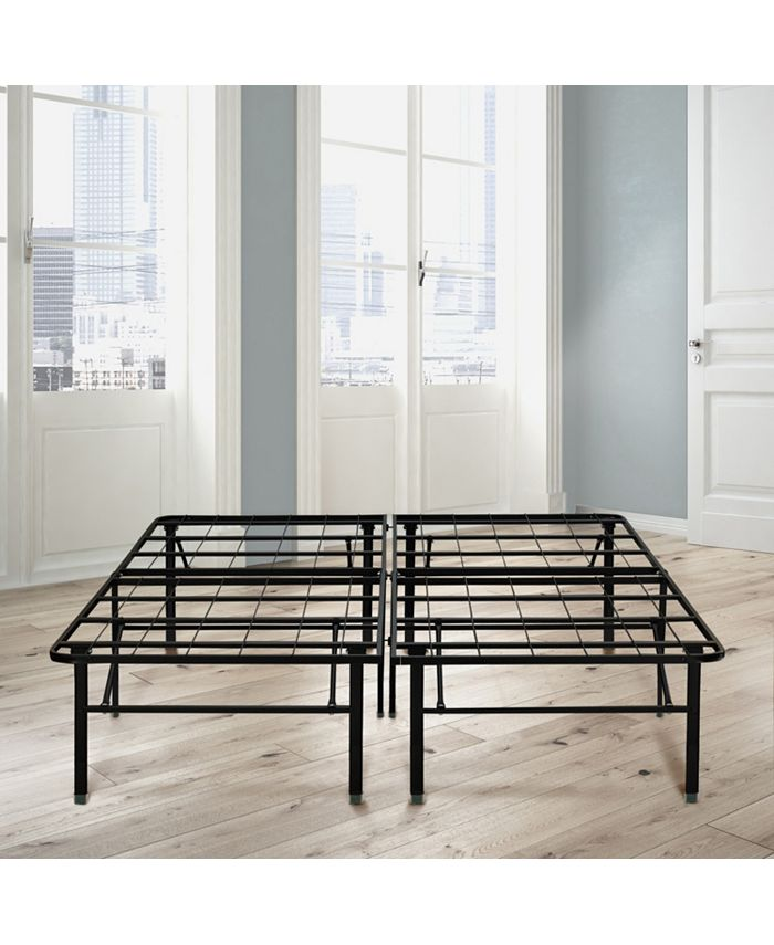 Ultima - 18 in. Double Black High Profile Platform Metal Bed Frame with Under Bed Storage, Easy Assembly
