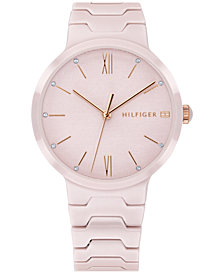 Tommy Hilfiger Women's Blush Ceramic Bracelet Watch 36mm Created for Macy's