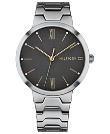 Tommy Hilfiger Women's Gray Stainless Steel Bracelet Watch 36mm Created for Macy's