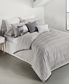 Sideline Cotton 3-Pc. Dobby Stripe King Duvet Cover Set, Created for Macy's
