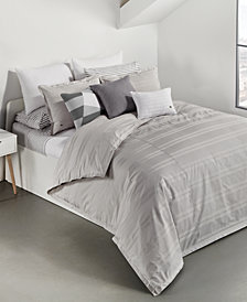 Lacoste Home Sideline Cotton 2-Pc. Dobby Stripe Twin/Twin XL Duvet Cover Set, Created for Macy's