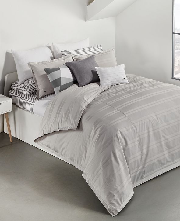 Lacoste Home Sideline Dobby Stripe Bedding Collection, Created for Macy's