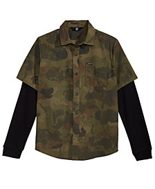 Volcom Big Boys Thornton Camo-Print Shirt