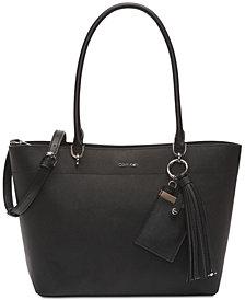 Calvin Klein Susan Saffiano Leather  Tote