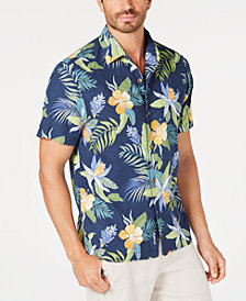 6f304894e Tommy Bahama Men's Beach Crest Blooms Floral Performance Camp Shirt