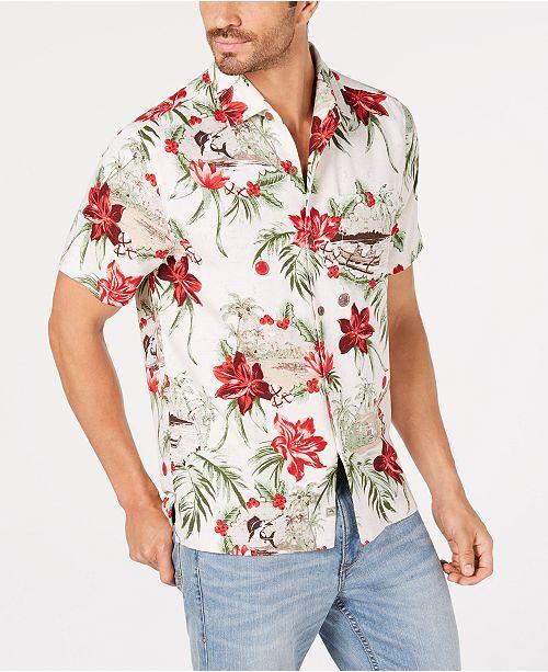 dc89130171 Tommy Bahama Men s Honolulu Holiday Silk Hawaiian Shirt   Reviews