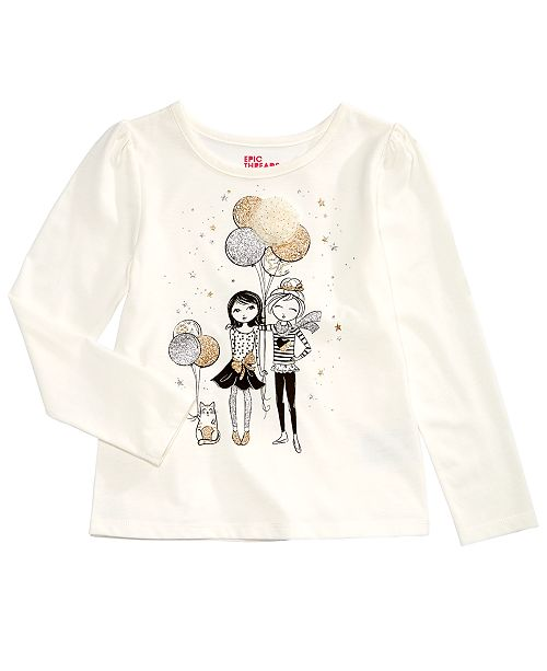 5a39050e8 Epic Threads Toddler Girls Long-Sleeve T-Shirt, Created for Macy's ...