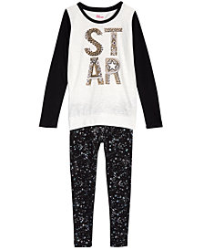 Epic Threads Big Girls Graphic-Print T-Shirt & Printed Leggings, Created for Macy's