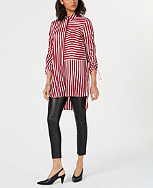 Bar III Striped High-Low Tunic, Created for Macy's