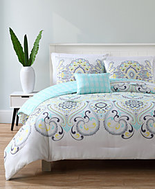 VCNY Home Amherst Reversible 4-Pc. Full/Queen Quilt Set