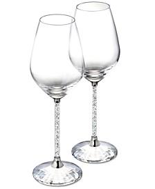 Crystalline Red Wine Glasses, Set of 2