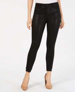 ARTICLES OF SOCIETY Heather Coated High Waist Skinny Jeans in Topeka