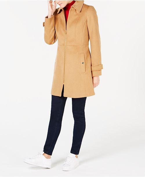 c616d87a78492 Michael Kors Hooded Stand-Collar Coat   Reviews - Coats - Women - Macy s