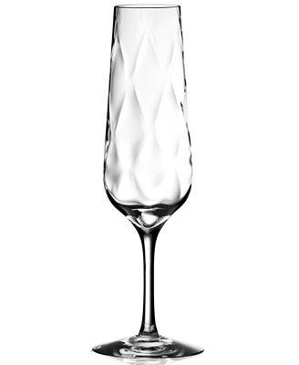 Orrefors Dizzy Diamond Flute