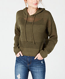 Ultra Flirt by Ikeddi Juniors' Open-Knit Hoodie