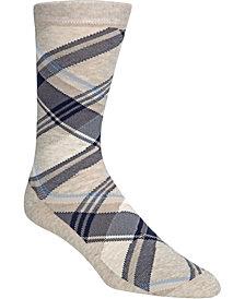 Cole Haan Men's Diagonal Plaid Crew Socks