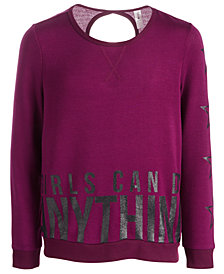 Ideology Big Girls Plus Anything-Print Sweatshirt, Created for Macy's