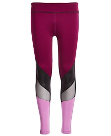 Ideology Big Girls Plus-Size Colorblocked Leggings, Created for Macy's