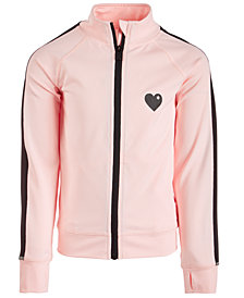 Ideology Little Girls Heart-Graphic Zip-Up Jacket, Created for Macy's