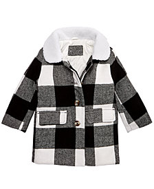 Carter's Baby Girls Plaid Jacket with Faux-Fur Collar