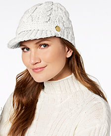 MICHAEL Michael Kors Pointelle Cable-Knit Peak Hat