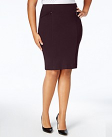 Plus Size Ponte Pencil Skirt, Created for Macy's