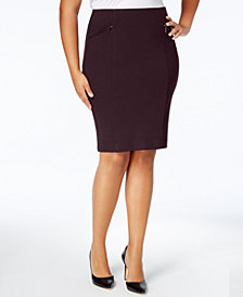 Alfani Plus Size Pencil Skirt, Created for Macy's