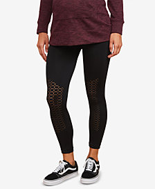 Motherhood Maternity Mesh-Paneled Leggings