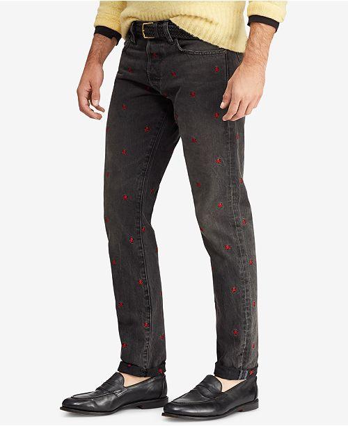 da0e7333e307 Polo Ralph Lauren Men s Sullivan Slim Embroidered Jeans  Polo Ralph Lauren  Men s Sullivan Slim Embroidered ...