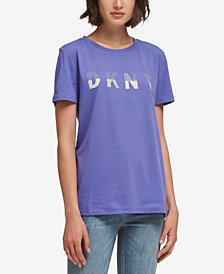 DKNY Embellished Logo T-Shirt, Created for Macy's