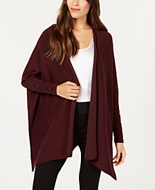 Alfani Open-Front Handkerchief-Hem Cardigan , Created for Macy's