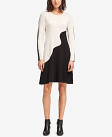 DKNY Colorblocked Sweater Dress, Created for Macy's