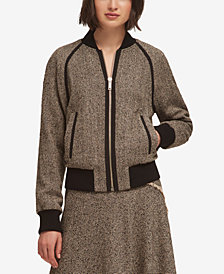 DKNY Tweed Bomber Jacket, Created for Macy's
