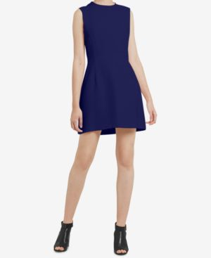 FRENCH CONNECTION Whisper Sleeveless Sheath Dress in Duchess Blue